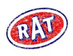 Distressed Aged RAT Oval Funny Parody Design For Rat Look VW Vinyl Car sticker decal 120x77mm